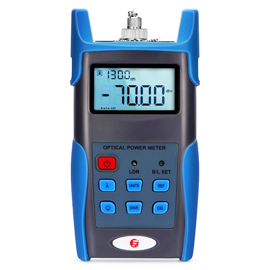 FOPM-108 Handheld Optical Power Meter(-70~+6dBm) with 2.5mm+FC+SC+ST Connector