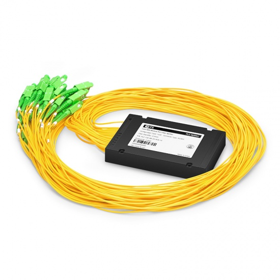 1x32 PLC Fiber Splitter, Splice/Pigtailed ABS Module, 2.0mm, SC/APC, Singlemode