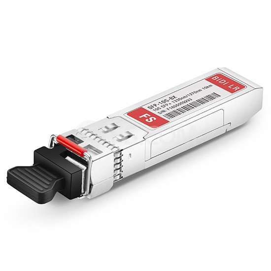 10GBASE-BX BiDi SFP+ 1330nm-TX/1270nm-RX 10km DOM Transceiver Module for FS Switches