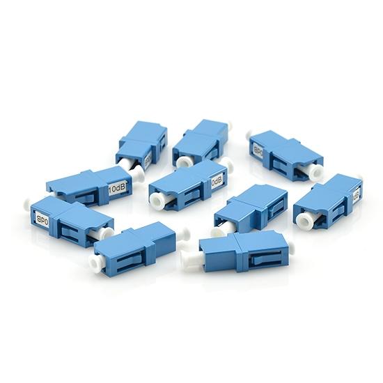 Customized LC/SC/FC/ST/LSH Single Mode Fixed Flanged Fiber Optic  Attenuator, Female to Female, 1~25dB