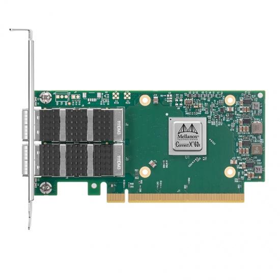 NVIDIA MCX623106AN-CDAT ConnectX-6 Dx EN双端口100GbE QSFP56 PCIe4.0x16高支架光纤网卡