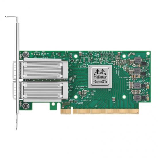 NVIDIA MCX516A-CCAT ConnectX-5 EN双端口100GbE QSFP28 PCIe3.0x16高支架光纤网卡