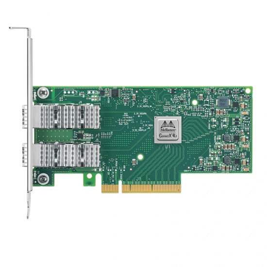 NVIDIA MCX4121A-ACAT ConnectX-4 Lx EN双端口25GbE SFP28 PCIe3.0x8高支架光纤网卡