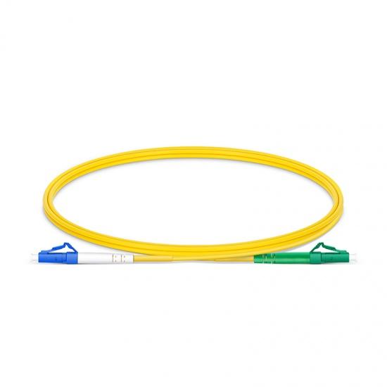 1m LC/UPC-LC/APC单工单模OS2光纤跳线-2.0mm PVC(OFNR)