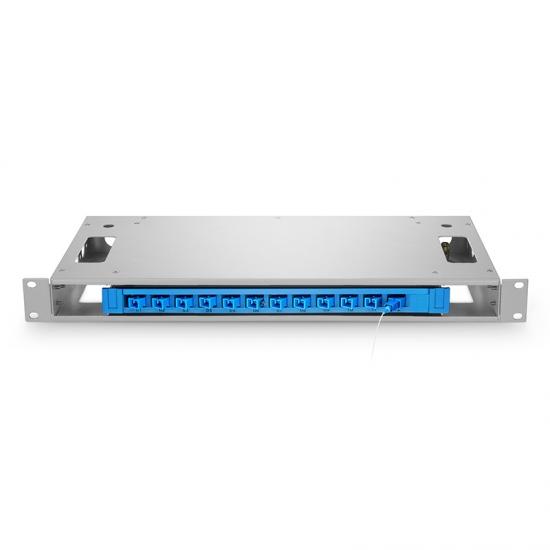 12芯 1U 19'' 机架式光纤配线架(ODF)