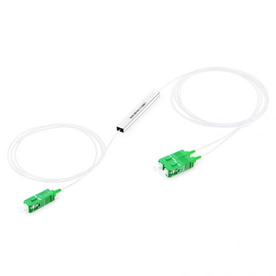 1×2  900μm 微型單模PLC平面波導型光分路器,SC/APC