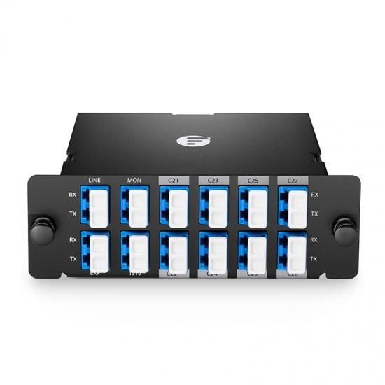 FHD 8通道 C21-C28 高密度DWDM密集波分复用器&解复用器,插入式