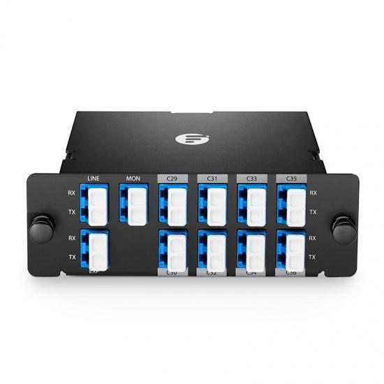 FHD 8通道 C29-C36 高密度DWDM密集波分复用器&解复用器 插入式