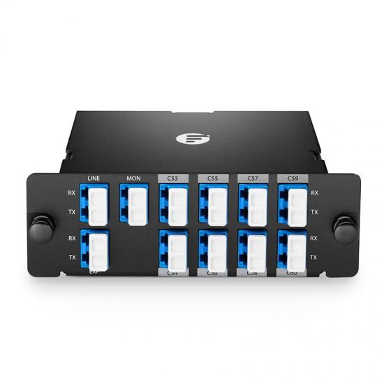 FHD 8通道 C53-C60 高密度DWDM密集波分复用器&解复用器 插入式