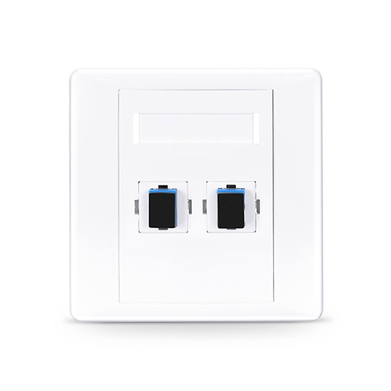 2 Port Sc Fiber Optic Wall Plate Outlet Fs