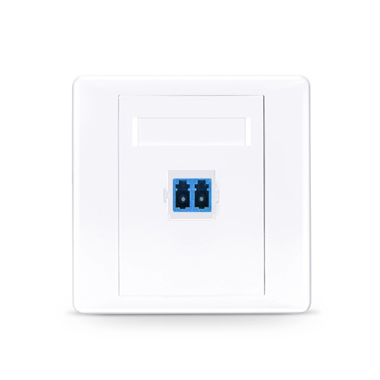 LC/UPC单口直面光纤面板,单模OS2