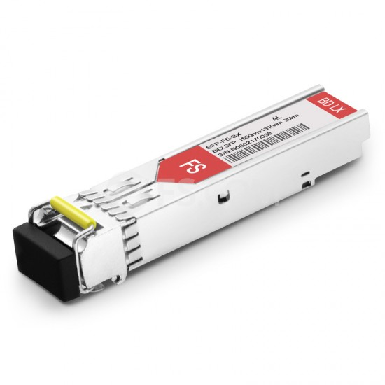 阿尔特朗讯(Alcatel-Lucent)兼容 SFP-100-BX20LT-D BiDi SFP百兆单纤双向光模块 1550nm-TX/1310nm-RX 20km SC