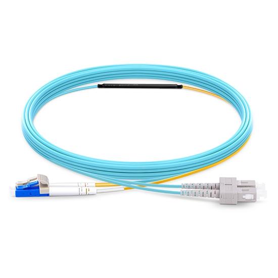 定制万兆单多模(OM4)转换光纤跳线电信级