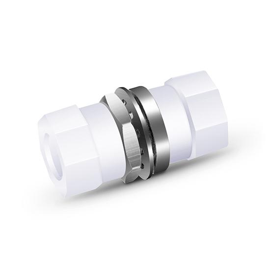 FC/UPC-FC/UPC单工单模/多模小圆形金属光纤适配器