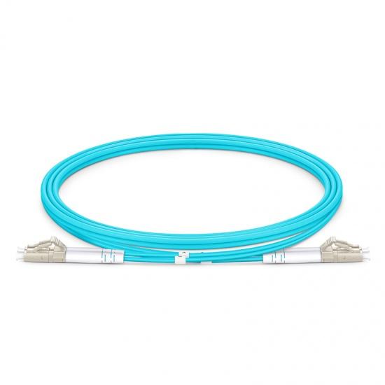 定制LC/SC/FC/ST/LSH 双工多模OM4 铠装光纤跳线