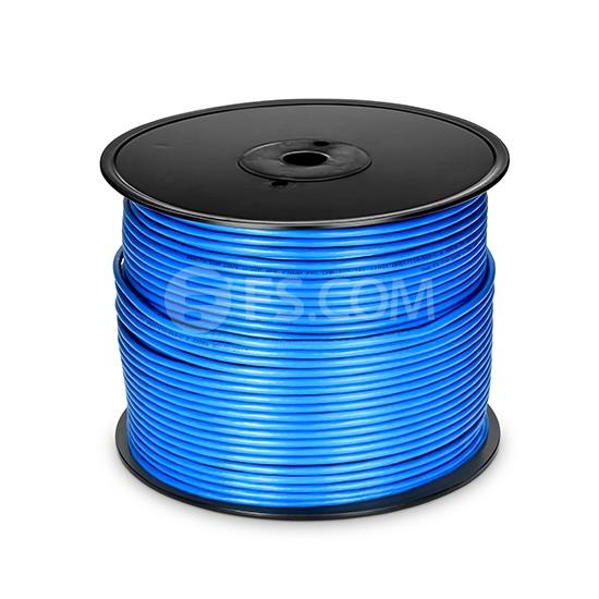 Cat5e Bulk Ethernet Cable 1000ft (305m) - Unshielded (UTP), Solid, PVC CMR, 24AWG, Blue