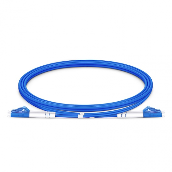 Customized LC/SC/FC/ST/LSH Duplex OS2 Single Mode Armored 3 0mm Fiber Optic  Patch Cable