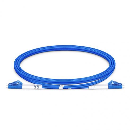 定制LC/SC/FC/ST/LSH 双工单模 铠装光纤跳线