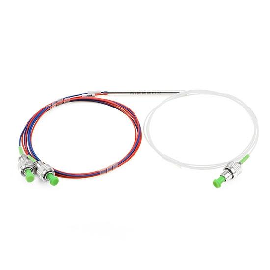 1×2  松套管FBT熔融拉锥光纤耦合器 0.9mm,FC/APC