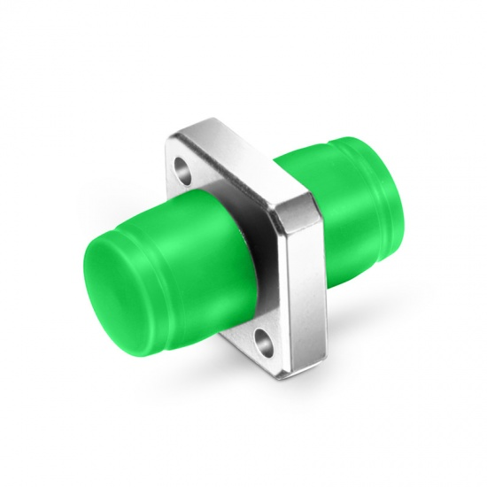 FC/APC-FC/APC 单工单模方形金属光纤适配器