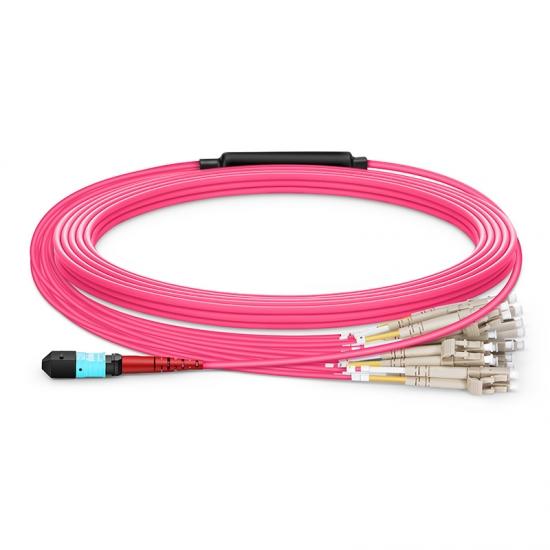24-144 芯万兆多模(OM4) MTP®(24芯)分支光纤跳线