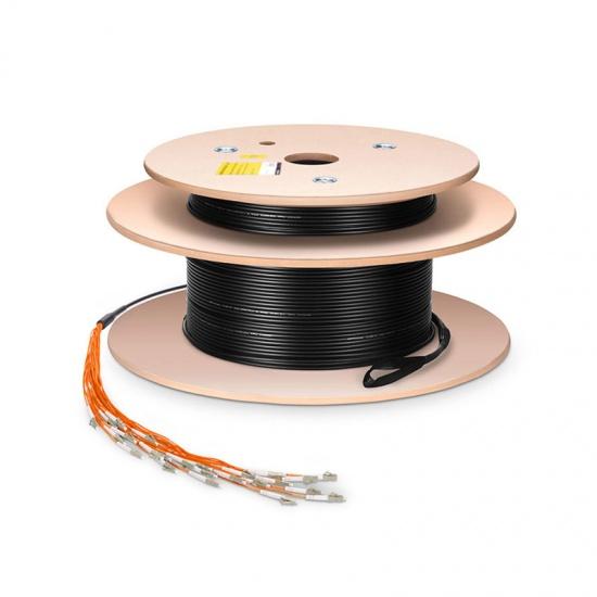 定制4芯 多模(OM2)50/125 室内/室外预端接光纤跳线-分支2.0mm