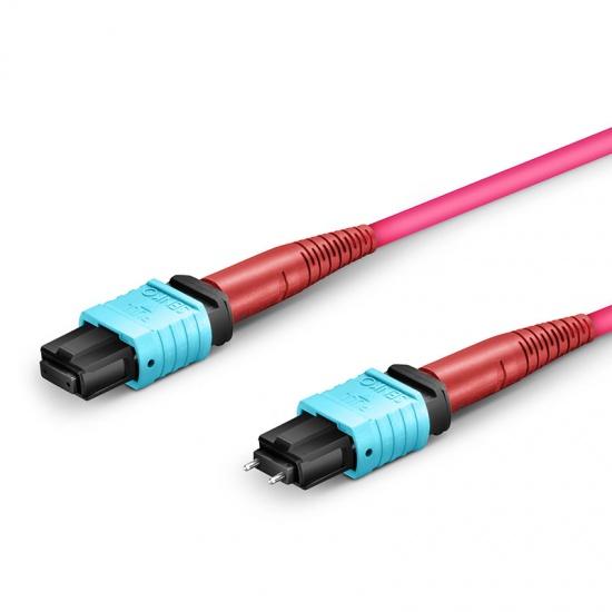 Customized 24-144 Fibers Senko MPO-24 OM4 Multimode Trunk Cable