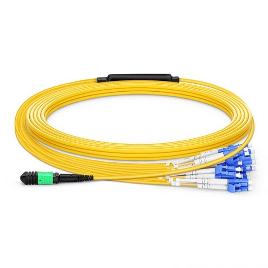 定制24 -144 芯单模MPO(24芯)分支光纤跳线