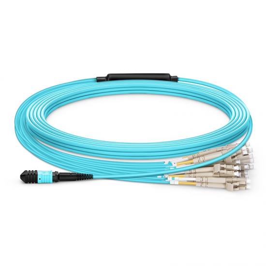 定制24 -144 芯万兆多模(OM3) MPO(24芯)分支光纤跳线