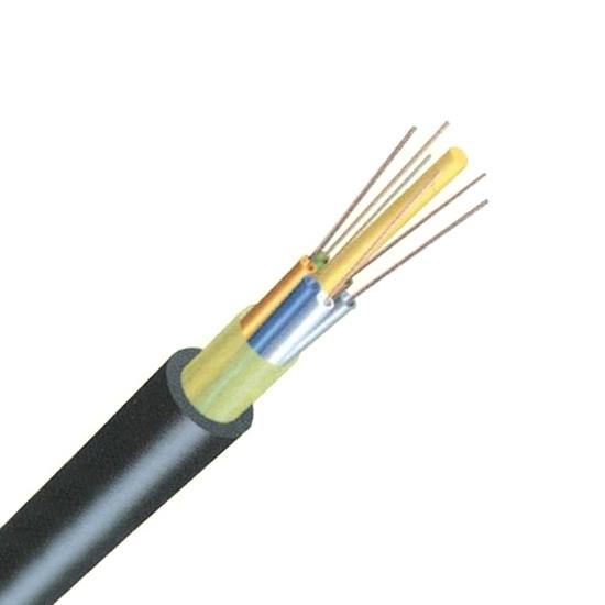 12芯 多模OM4 50/125μm 非铠装单护套层绞式松套管FRP加强件室外防水光缆 - GYFTY