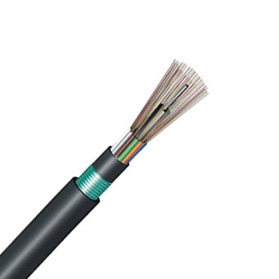 12芯单模OS2 62.5/125μm单铠装双护套层绞式松套管FRP加强件室外防水光缆 - GYFTY53