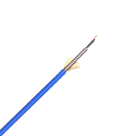 12 Fibres Singlemode 9/125 OS2, LSZH, Single-Armoured Indoor Tight-Buffered Breakout Fibre Optical Cable MCAC