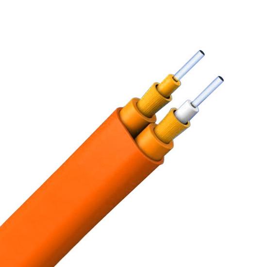 双芯多模OM2 50/125μm双护套扁形紧包LSZH室内互连光缆
