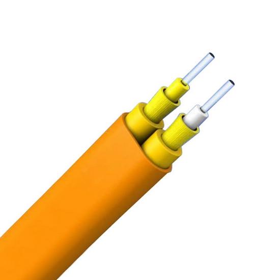 定制双芯双护套扁形紧包Riser室内互连光缆