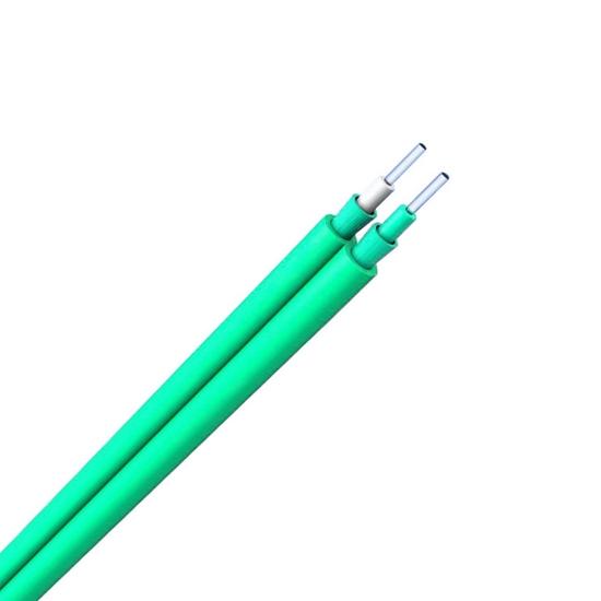 多模OM4 50/125μm双芯并行紧包阻燃室内互连光缆
