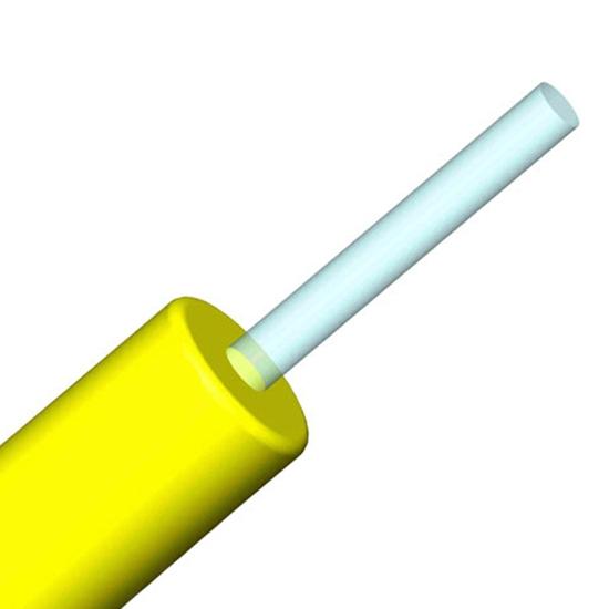Maßgeschneidertes Tight-Buffer Interconnect Innenkabel, 900μm Single-Faser, Singelmode 9/125 OS2, Plenum, Corning Faser