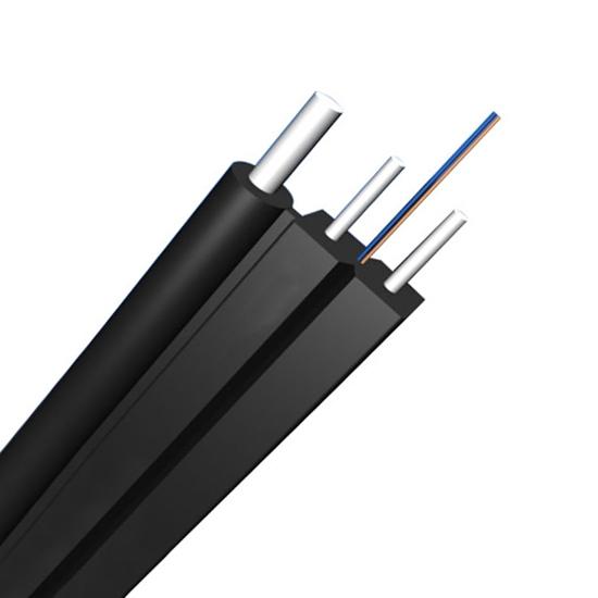 双芯单模(OS2) 自承式蝶形皮线光缆GJYXFCH,金属加强件,LSZH