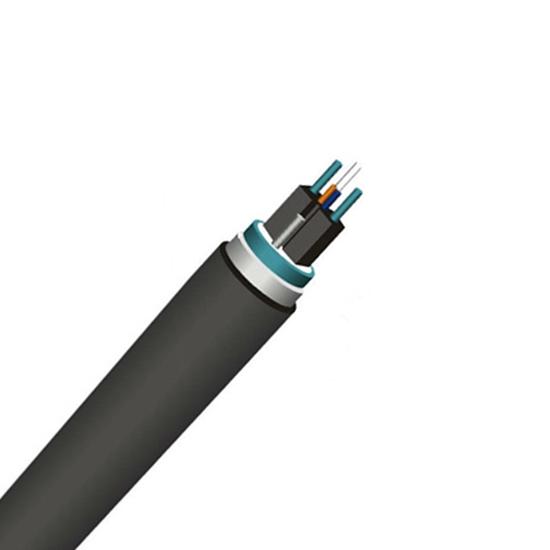 双芯单模(OS2) 单铠装FTTH室外引入光缆GJFDC,KFRP强度构件,PE