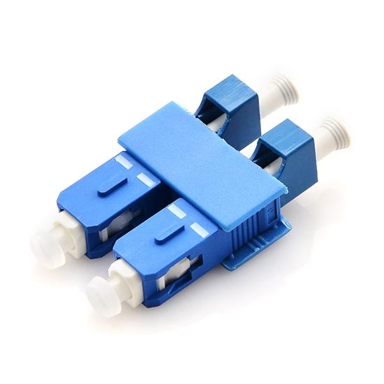 LC/UPC Buchse auf SC/UPC Stecker Duplex Singlemode LWL-Adapter aus Kunststoff