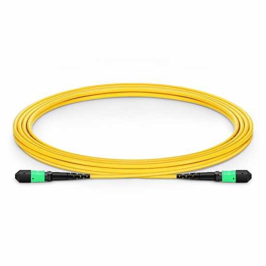 3m (10ft) MTP Female 12 Fibers Type A LSZH OS2 9/125 Single Mode Elite Trunk Cable, Yellow