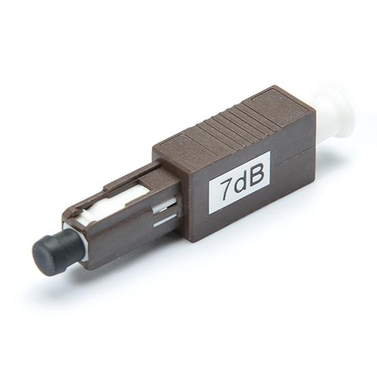 MU / UPC單模固定式光纖衰減器,公頭 - 母頭,1〜25dB可選