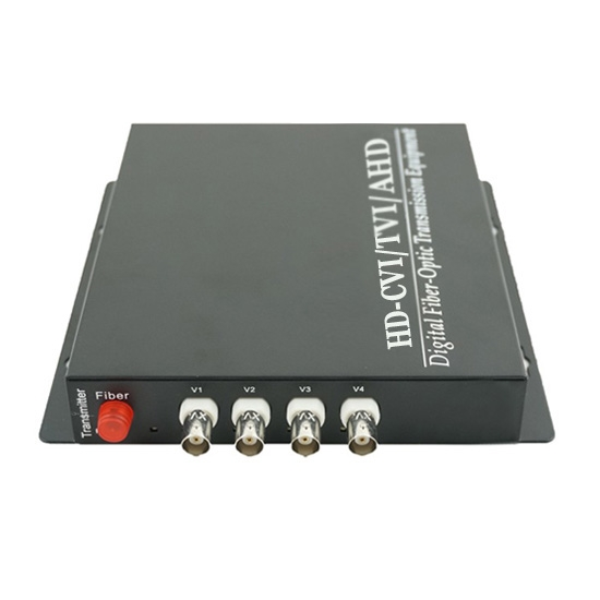 4 Channel HD-TVI over Optical Fibre Transmitter and Receiver Set