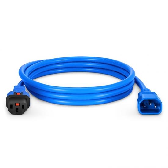 1.8m 18AWG 250V/10A 自锁式电源线, C14转C13,蓝色