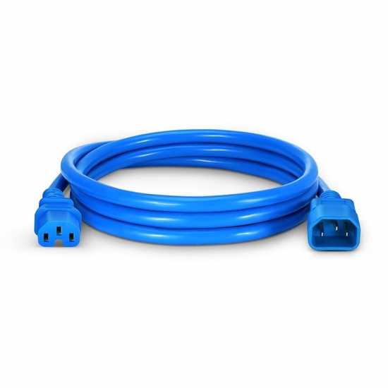 1.8m 14AWG 250V/15A 电源线,IEC60320 C14转 IEC60320 C15,蓝色