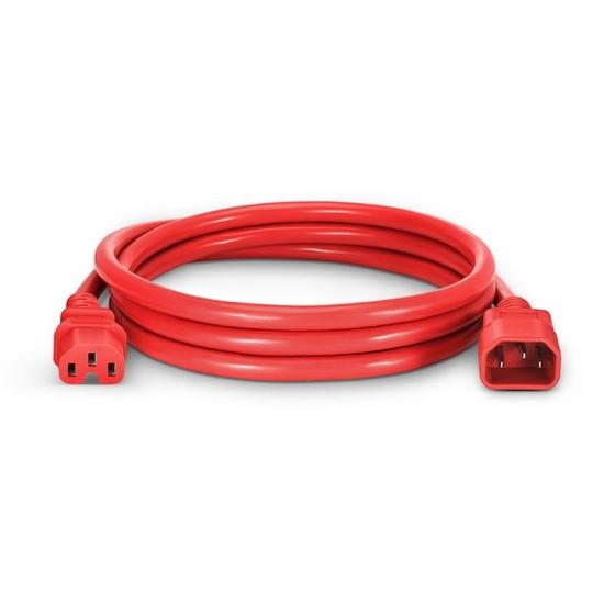 6ft (1.8m) Шнур Питания (IEC60320 C14 - IEC60320 C15) 250В/15А 14AWG, Красный