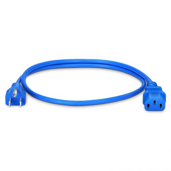 0.9m 18AWG 125V / 10A电源线,NEMA 5-15P转IEC60320 C13,蓝色