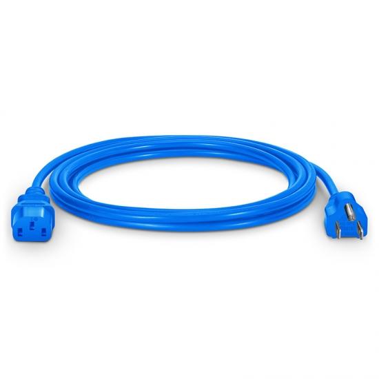 3m 18AWG 125V / 10A电源线,NEMA 5-15P转IEC60320 C13,蓝色