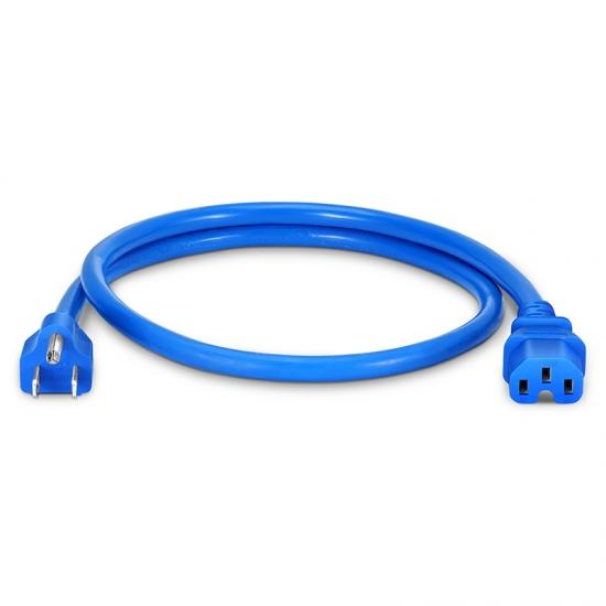 0.9m 14AWG 125V / 15A电源线,NEMA 5-15P转IEC60320 C15,蓝色