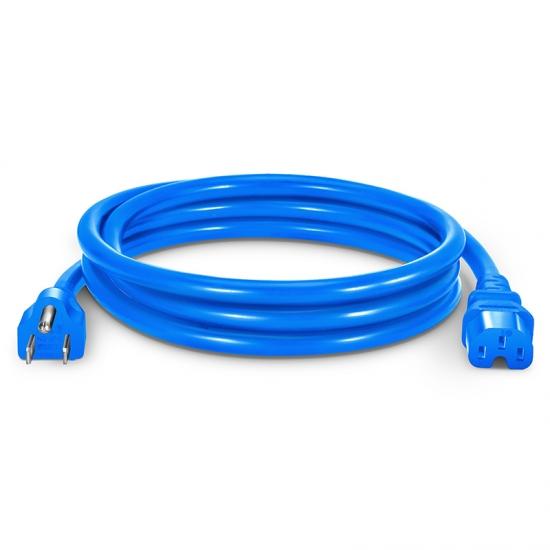 1.8m 14AWG 125V / 15A电源线,NEMA 5-15P转IEC60320 C15,蓝色