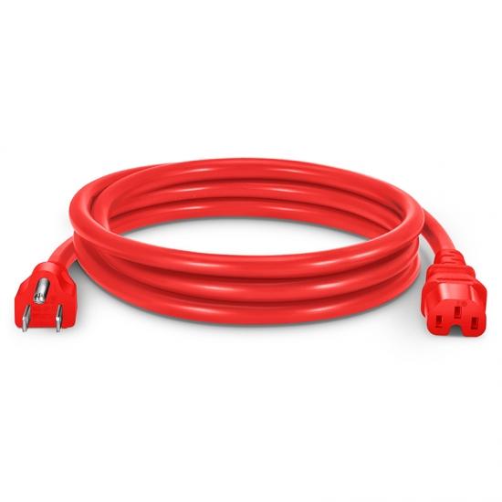 1.8m 14AWG 125V / 15A电源线,NEMA 5-15P转IEC60320 C15,红色